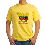 Mariposa Colombiana Yellow T-Shirt