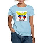 Mariposa Colombiana Women's Pink T-Shirt