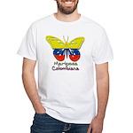 Mariposa Colombiana White T-Shirt