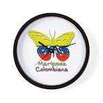 Mariposa Colombiana Wall Clock