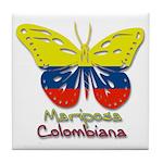 Mariposa Colombiana Tile Coaster