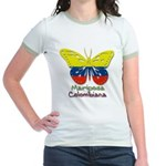 Mariposa Colombiana Jr. Ringer T-Shirt