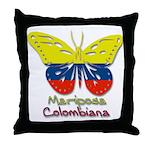 Mariposa Colombiana Throw Pillow