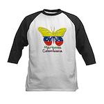 Mariposa Colombiana Kids Baseball Jersey