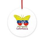 Mariposa Colombiana Ornament (Round)