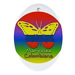 Mariposa Colombiana Oval Ornament