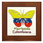 Mariposa Colombiana Framed Tile