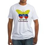 Mariposa Colombiana Fitted T-Shirt