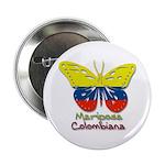 Mariposa Colombiana Button
