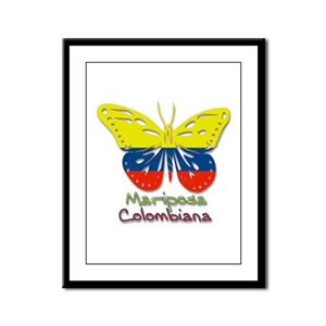Mariposa Colombiana Framed Panel Print