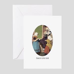 Dutch Girls Knit Greeting Cards (Pk of 10)