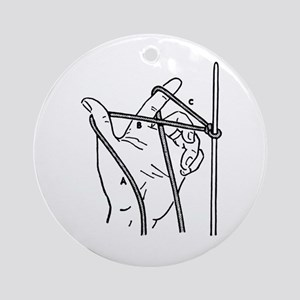 Knitting Diagram Ornament (Round)