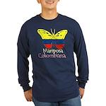 Mariposa Colombiana Long Sleeve Dark T-Shirt