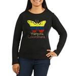 Mariposa Colombiana Women's Long Sleeve Dark T-Shi
