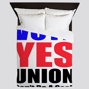 Vote Yes Union Queen Duvet