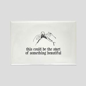 Knitting - Something Beautiful Rectangle Magnet