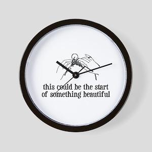 Knitting - Something Beautiful Wall Clock