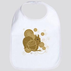 Nuts About Squirrels Bib