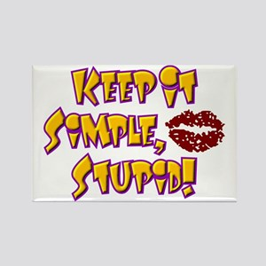 Keep It Simple Stupid KISS Rectangle Magnet