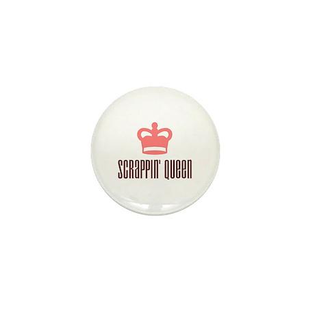 Scrapbooking - Scrappin' Queen Mini Button
