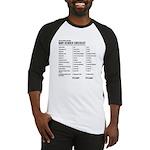 Baby Gender Checklist Black Baseball Jersey