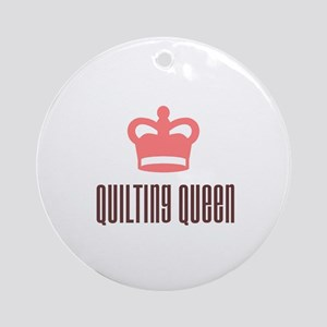 Quilting Queen Ornament (Round)