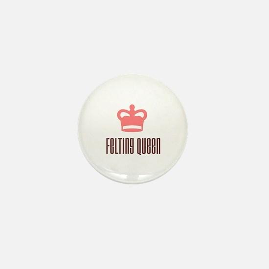 Felting Queen Mini Button