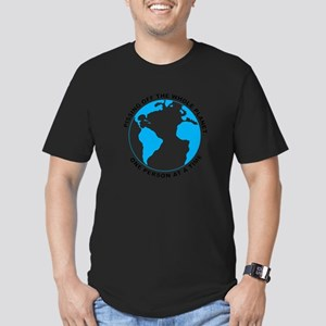 Pissing Off The World Men's Fitted T-Shirt (dark)