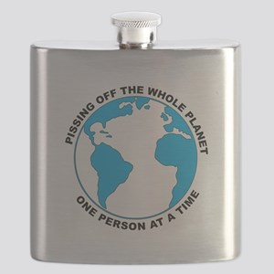 Pissing Off The World Flask