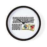 Scrapbooking Addict Wall Clock