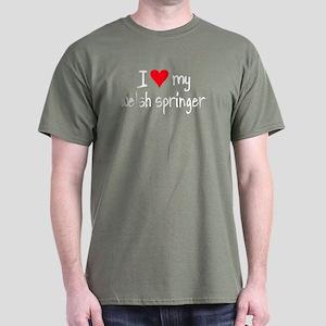I LOVE MY Welsh Springer Dark T-Shirt