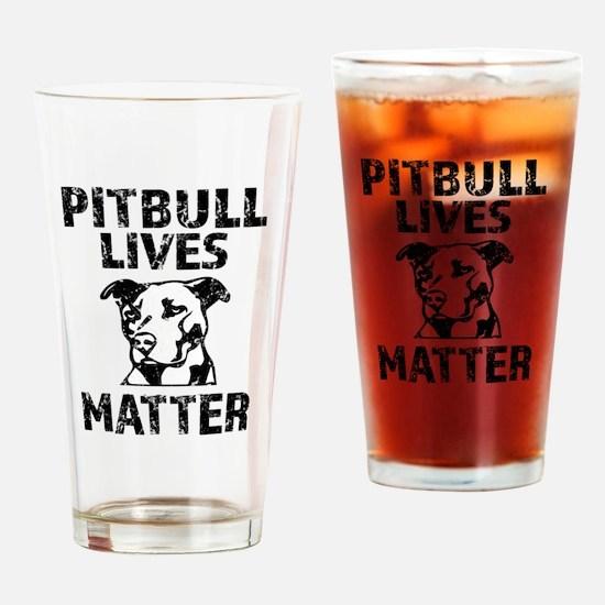 Pitbull Lives Matter Funny Shirt Drinking Glass