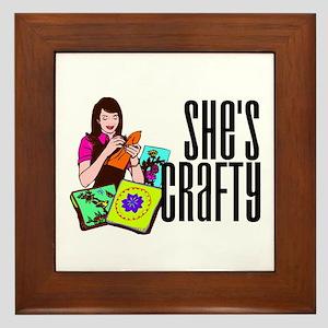 She's Crafty Framed Tile