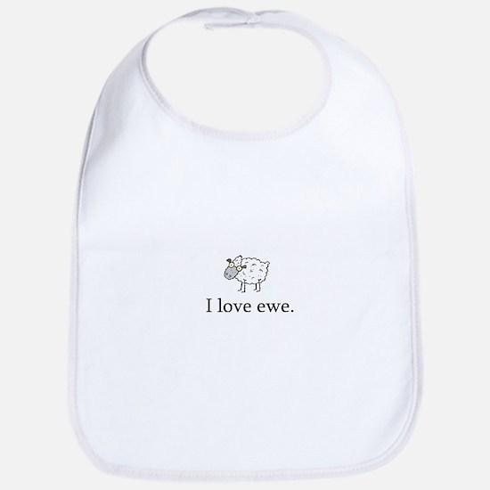 I Love Ewe Bib