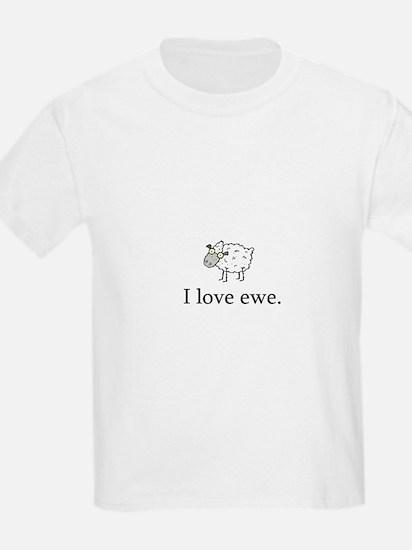 I Love Ewe Kids T-Shirt