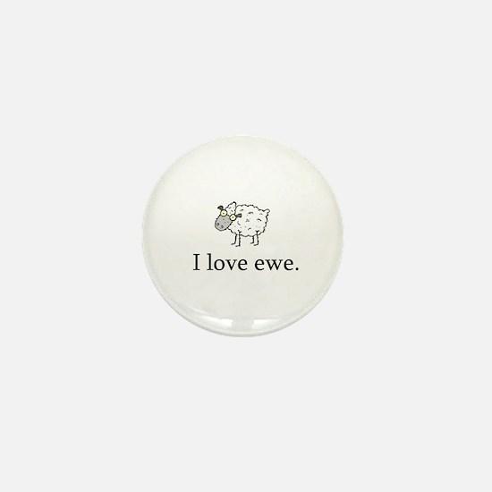 I Love Ewe Mini Button