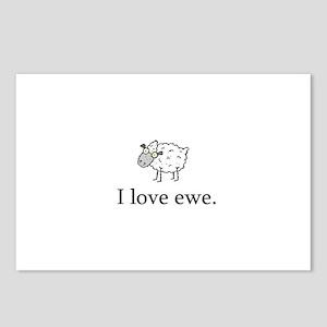 I Love Ewe Postcards (Package of 8)