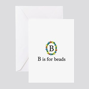 B is for Beads Greeting Cards (Pk of 10)