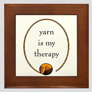 Yarn Is My Therapy Framed Tile