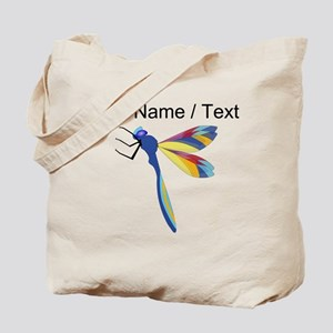 Custom Colorful Dragonfly Tote Bag