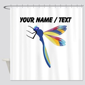 Custom Colorful Dragonfly Shower Curtain