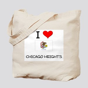 I Love CHICAGO HEIGHTS Illinois Tote Bag