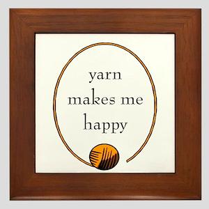 Yarn Makes Me Happy Framed Tile