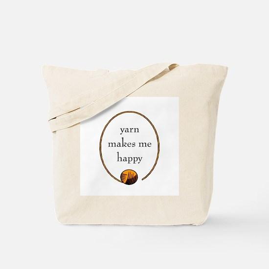 Yarn Makes Me Happy Tote Bag