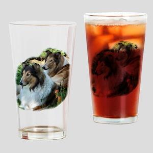 Rough Collie Art Drinking Glass