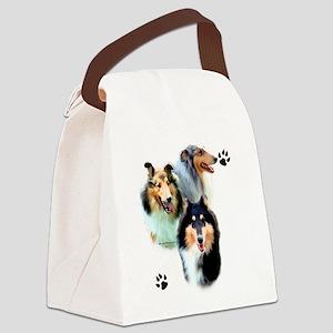 Collie Trio Canvas Lunch Bag