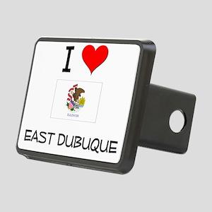 I Love EAST DUBUQUE Illinois Hitch Cover