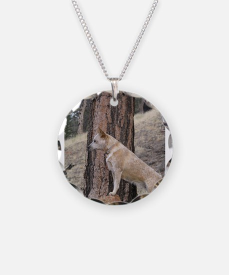 Red Heeler in Mountains Necklace