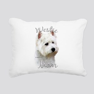 Westie Mom Rectangular Canvas Pillow