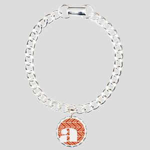 Chevron Charm Bracelet, One Charm